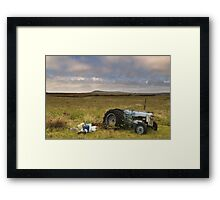 Islay: Tractor Framed Print