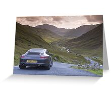 Porsche 911 Lake District Greeting Card