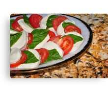 Appetite For Cheese and Tomato Canvas Print