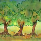 Three Strong Trees by Caroline  Lembke