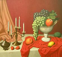still life in red by yacov gabay