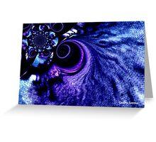 Dark Blue Whirlpool in Space Greeting Card