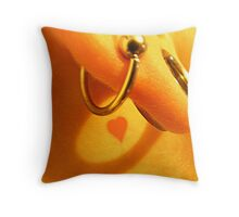 Hole in the ear Throw Pillow