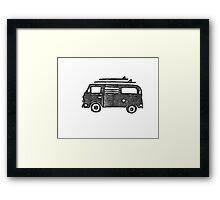 Beach Van Framed Print