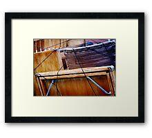 veneer stack Framed Print
