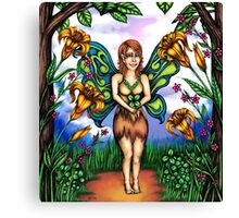 Luck of the Tiger Lily Fairy Canvas Print