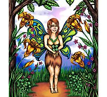 Luck of the Tiger Lily Fairy Photographic Print