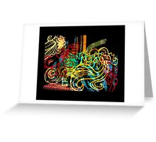 striking colourful-1 Greeting Card