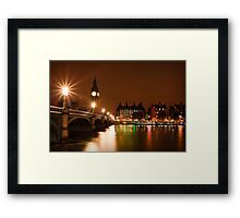 Westminster Bridge Over The Thames Framed Print