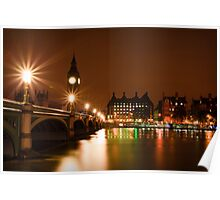 Westminster Bridge Over The Thames Poster