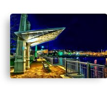 Date Night- Piers Park,East Boston Canvas Print