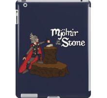 Mjolnir in the Stone (Helmet Version) iPad Case/Skin