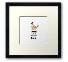 Pixel Ryu Framed Print
