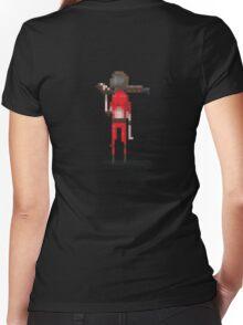 Red doomguy pixelart tribute  Women's Fitted V-Neck T-Shirt