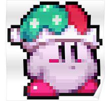 Kirby Jester Pixel Poster