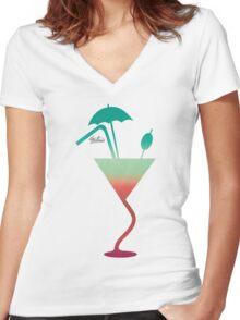 Summer fantazy cocktail Women's Fitted V-Neck T-Shirt