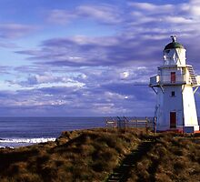 Waipapa Point lighthouse Southland by Paul Mercer