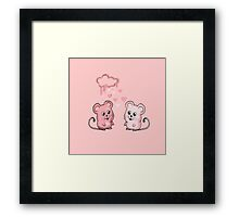 mice love Framed Print
