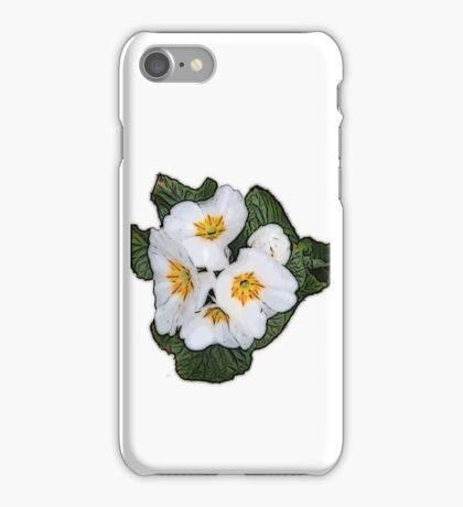 White Primrose Patch iPhone Case/Skin