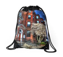 Streets of Boston Drawstring Bag