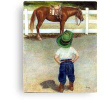 The Standoff Horse Portrait Canvas Print
