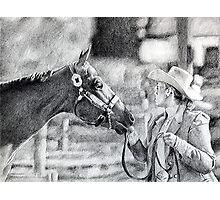 Amateur Showmanship Quarter Horse Portrait Photographic Print
