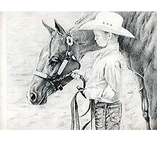 Youth Showmanship Quarter Horse Portrait Photographic Print