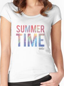 Summer time typography Women's Fitted Scoop T-Shirt