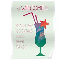 Summer caribbean cocktail Poster