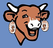 The Laughing Cow Pop 2 - Brown on Blue by peterpotamus