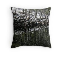 Merced River Abstract Throw Pillow