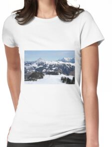 Austrian Alps. Womens Fitted T-Shirt