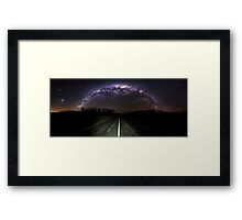 The Milky Highway  Framed Print