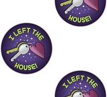 Spoonie Stickers - I left the house! (small) by Parkertron