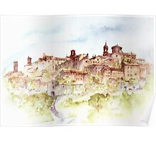 Lucignano, Toscany, Italy Poster