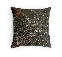 Raindrop Dancers Throw Pillow