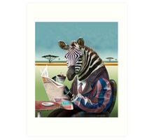 Zebra Morning Art Print