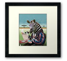 Zebra Morning Framed Print