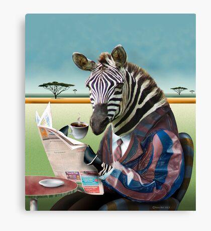 Zebra Morning Canvas Print