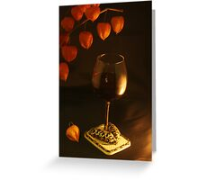 Well-dressed Wine Greeting Card
