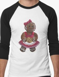 Gingerbread girl wants a Cookie Men's Baseball ¾ T-Shirt