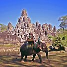 Bayon Elephant Ride by Mike Mahalo