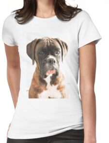 Luthien's Portrait Boxer Dogs Series- Womens Fitted T-Shirt