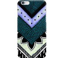 Blue & Turquoise Chevron iPhone Case/Skin
