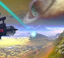 Saturn smokes while a tractor beams by retepk
