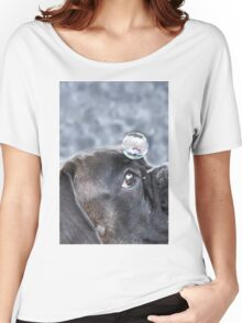 Bubble On My Head -Boxer Dogs Series-  Women's Relaxed Fit T-Shirt
