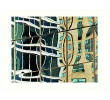 Building reflection 1, Sydney Australia Art Print