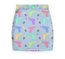 Lipstick and Guns Mini Skirt