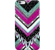Pink & Turquoise Feather Pattern iPhone Case/Skin