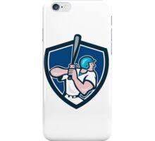 Baseball Player Batting Shield Cartoon iPhone Case/Skin